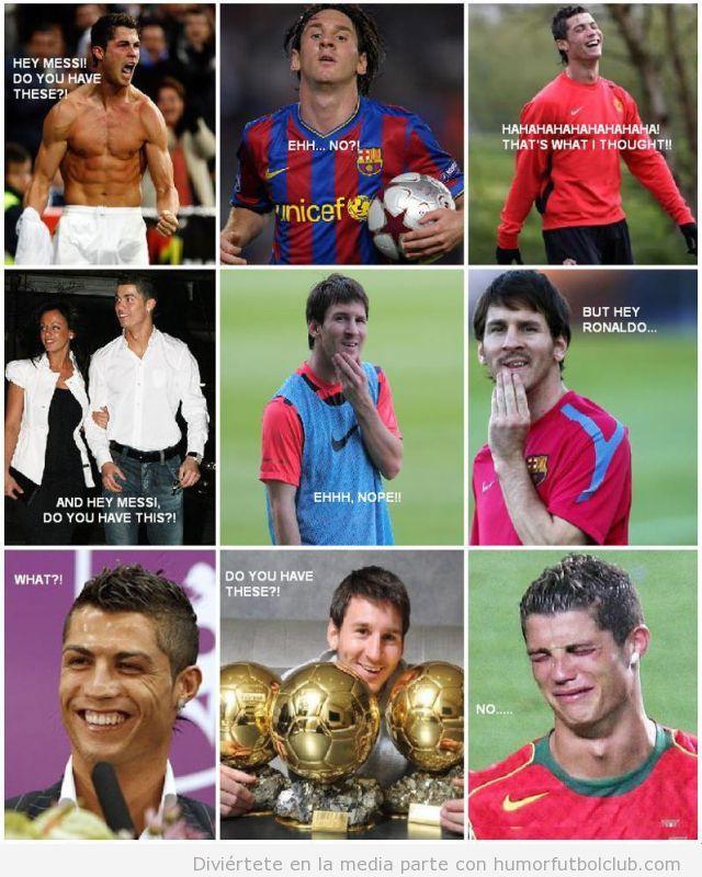 Piques y rebotes entre Cristiano Ronaldo y Messi