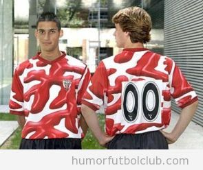 Camiseta horrible del Athletic Club de Bilbao temporada 2004
