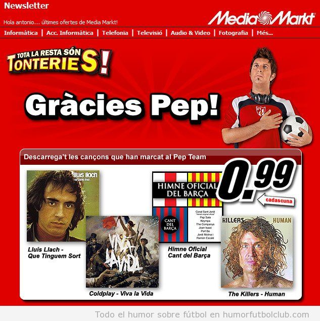 Promoción de Media Markt Gracies Pep Guardiola