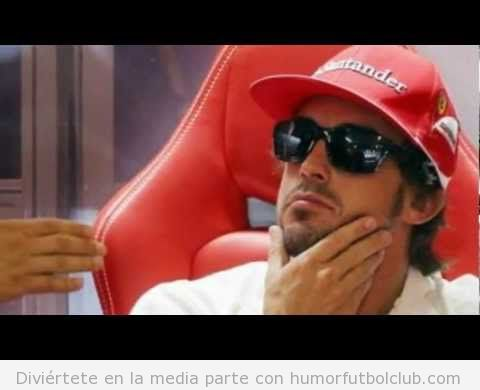 Fernando Alonso like a boss con gafas de sol gana GP Europa 2012 en Valencia