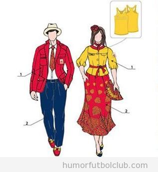Boceto del vestuario de España en los JJOO de Londres