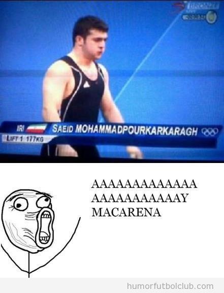 Apellido raro e impronunciable de un atleta de Irán en los Juegos Olímpicos 2012, Mohammadpourkapkaragh