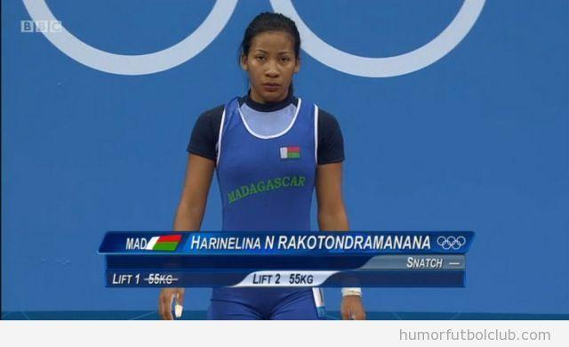 Apellido raro de una atleta llamada harelina n rakotondramananana en los Juegos Olímpicos 2012