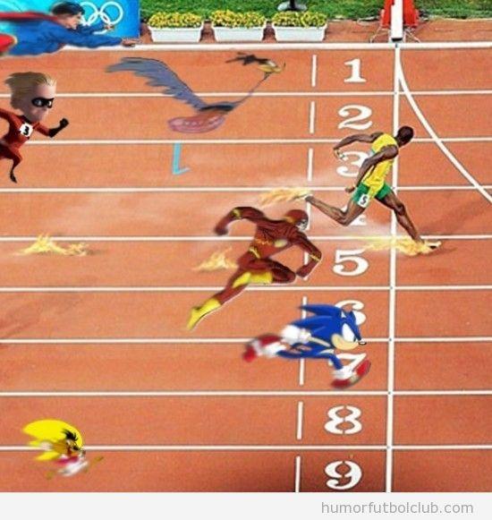 Sonic Flash, Correcaminos en los 100 metros liso contra Bolt