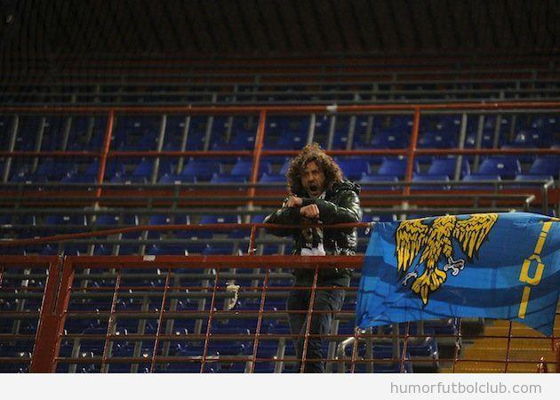 Fan del Udinese solo en el encuentro ante la Sampdoria