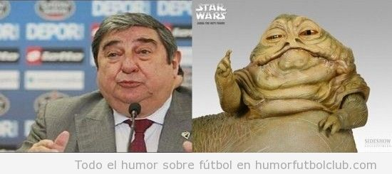 Parecido razonable de Lendoiro y Jabba the hutt de Star Wars
