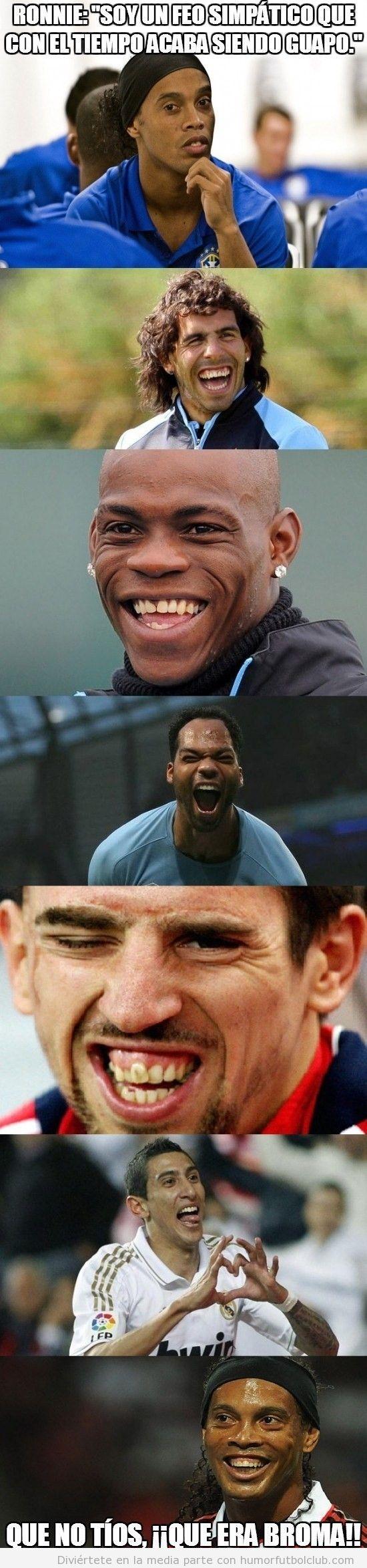 Futbolistas feos y sus sonrisas