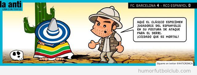 Humor gráfico de Anticrónica sobre el Derbi Barça Espanyol
