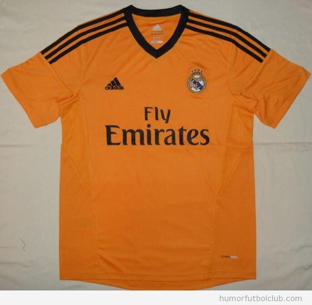 Segunda equipación del Real Madrid para temproada 2013-2014, color naranja
