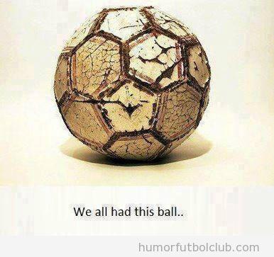 Bonita imagen de un balón de fútbol de cuero antiguo