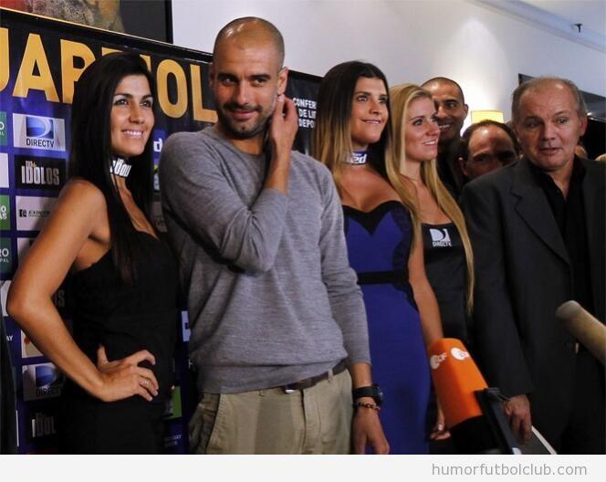 Guardiola rodeado de chicas guapas en Argentina