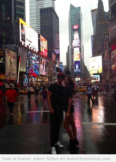 Imagen de Cristiano e Irina de vacaciones en New York