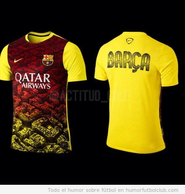 Camiseta de entrenamiento del Barça 2014 fea