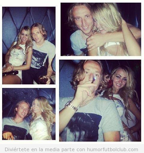 Fotos de Luka Modric de fiesta con una rubia en Los Ángeles