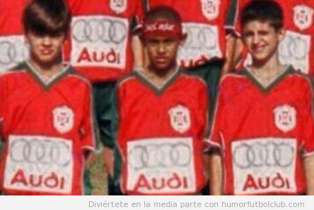 Neymar y Leo Baptistao jugaban juntos de pequeños