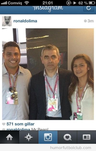 Foto graciosa de Ronaldo y Mr Bean