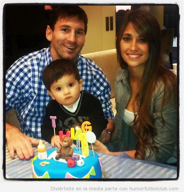 Foto bonita del primer cumpleaños del niño de Messi