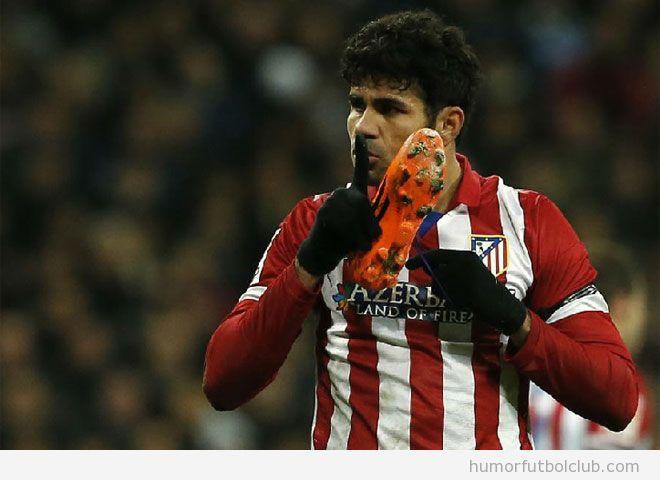 Diego Costa hace callar al Bernabeu con una bota en la mano