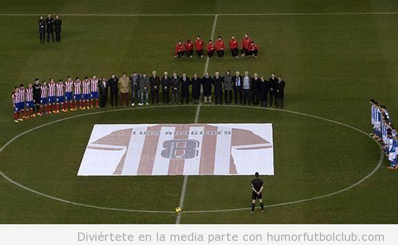 Fotos del Homenaje a Luis Aragonés en el Calderón