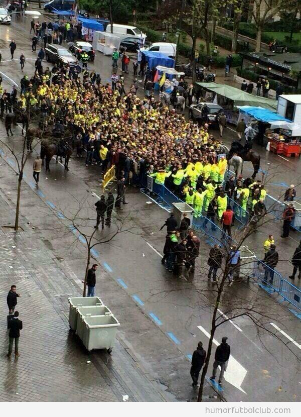 Ultras Real Madrid y Borussia antes del partido de Champions, enfrentamientos calle