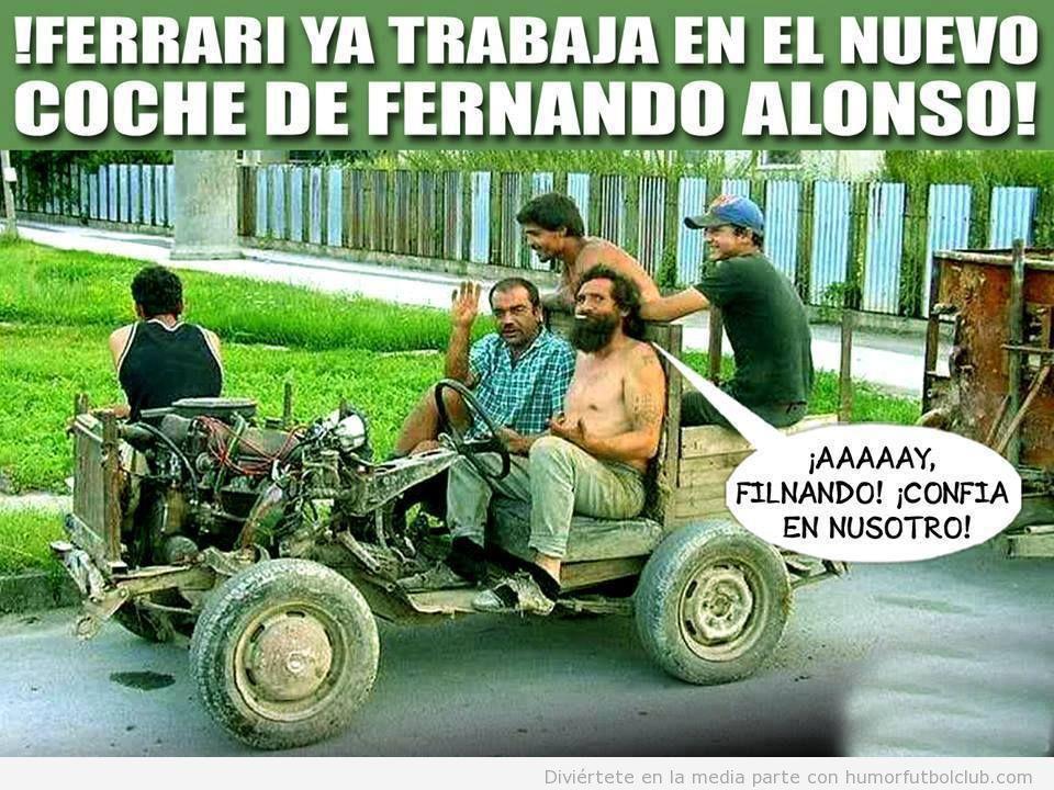 Meme gracioso, Ferrari prepara el nuevo coche de Alonso