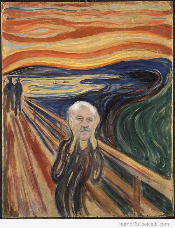 Fotos graciosas y memes tras la derrota España Mundial, Del Bosque Munch