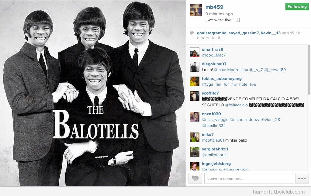 Fotomontaje gracioso The Balotellis tras fichar por el Liverpool