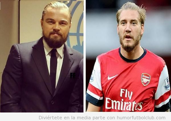 Foto graciosa de Leonardo Di Caprio y su parecido razonable  Bendtner