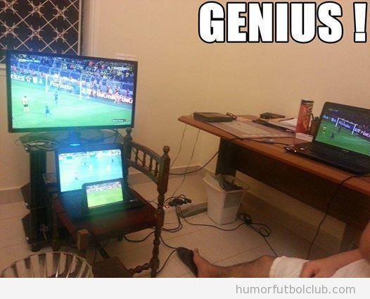 Imagen graciosa, 4 pantallas para ver fútbol