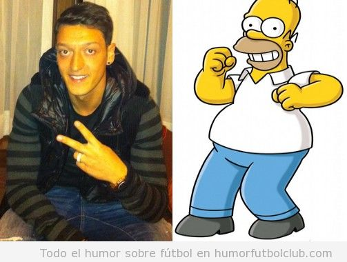 Parecido de Ozil con Los Simpson