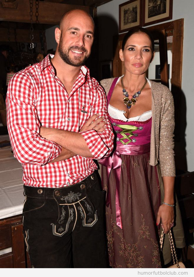 Pepe Reina y Yolanda Ruiz en Oktoberfest