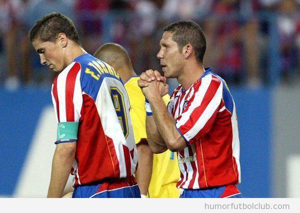 Foto curiosa Torres capitán de Simeone en el Atlético de Madrid