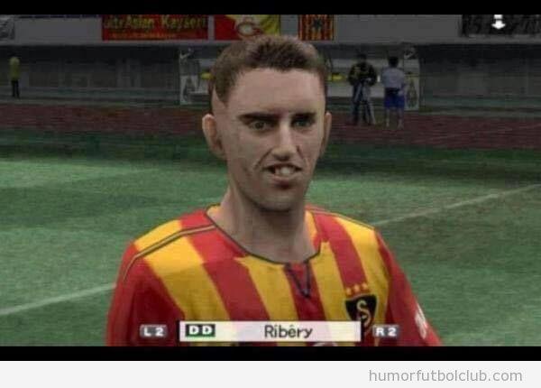 Futbolista Ribéry en el videojuego PES 06