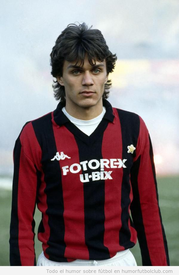 Foto del debut de Maldini Ac Milan 1985