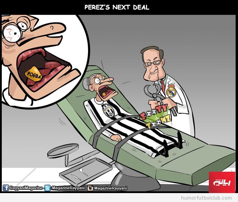 Viñeta graciosa próximo fichaje Florentino Pérez, Pogba