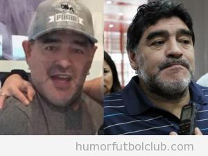Foto de Diego Maradona lifting