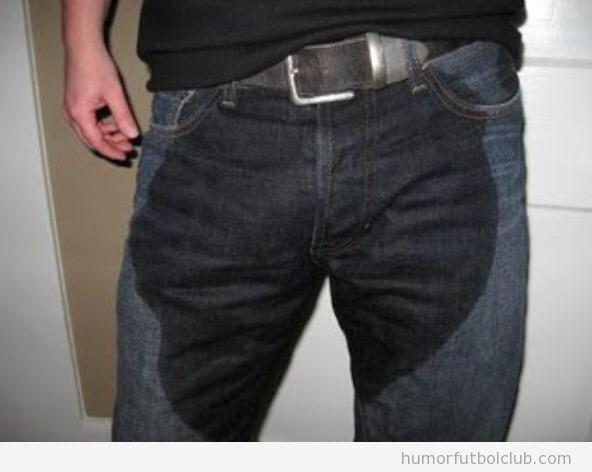 Foto pantalón pipi, aficionados Real Madrid tras partido Schalke 04