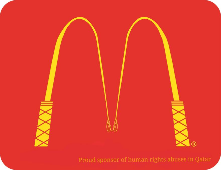 Logos anti esclavitud patrocinadores Mundial Fútbol Qatar 2022