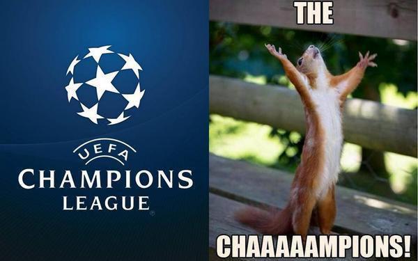 Meme gracioso, vuelve la Champions League