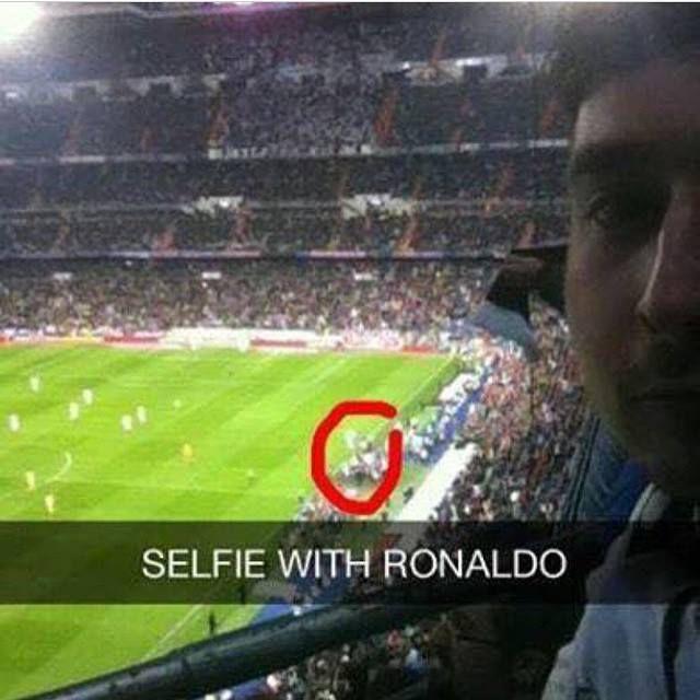 Foto graciosa, selfie con Ronaldo