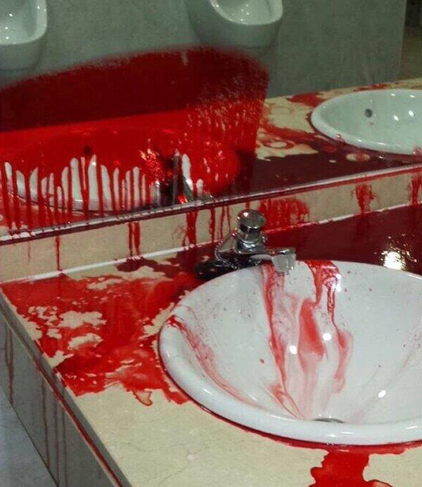 Vestuarios Getafe llenos sangre después del partido Barça