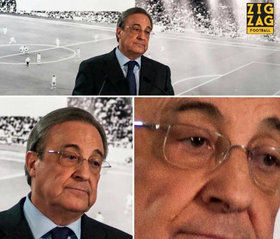 Meme gracioso de la cara de Florentino Pérez