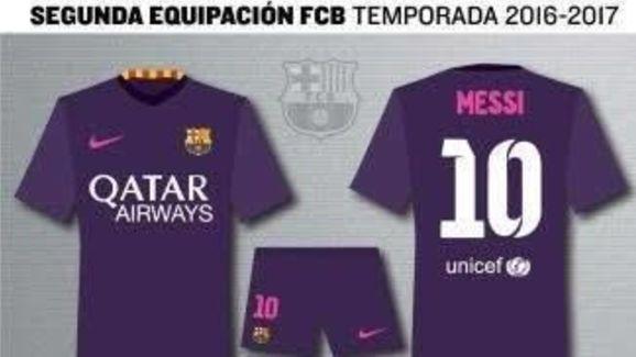 Segunda equipación Barça 2017 Away Kit