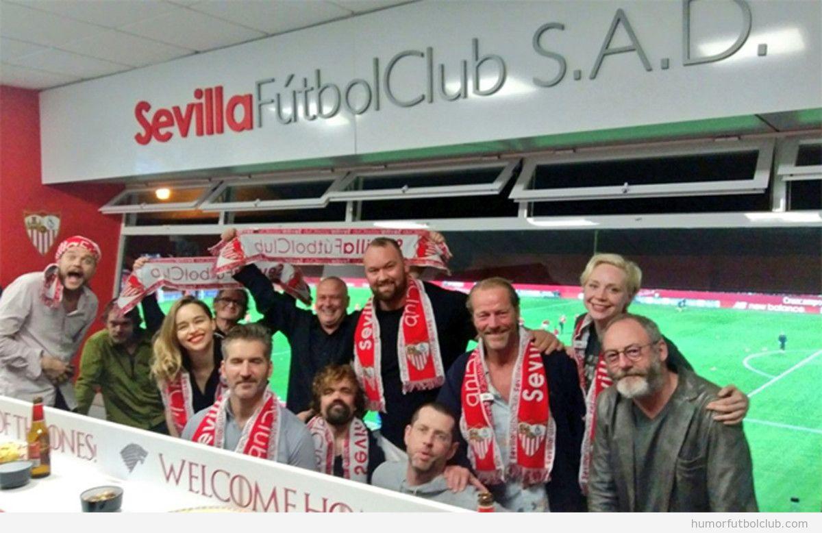 Actores Juego de Tronos en el Sevilla - Barça