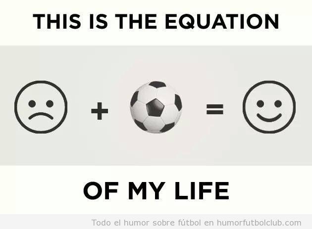 Ecuación felicidad con el fútbol