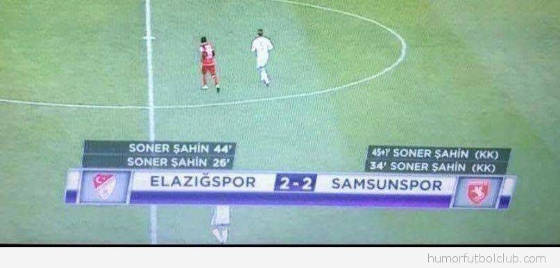Soner Sahin mete cuatro goles
