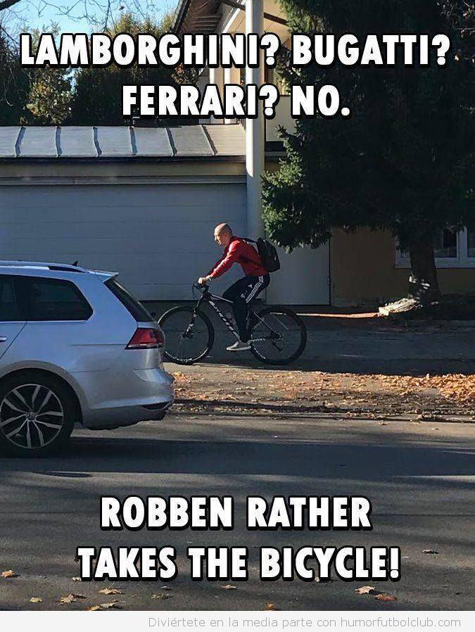 Meme Roben en bici