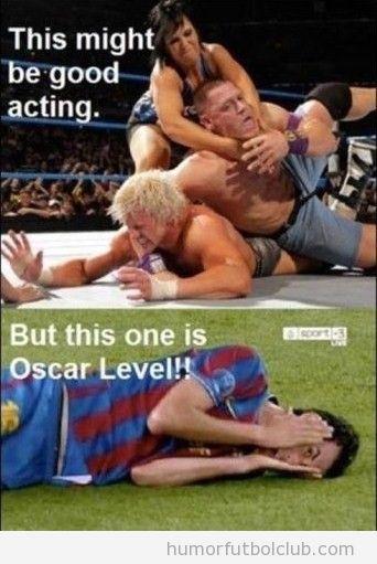Es mejor actor un luchador de lucha libre o un jugador del barça