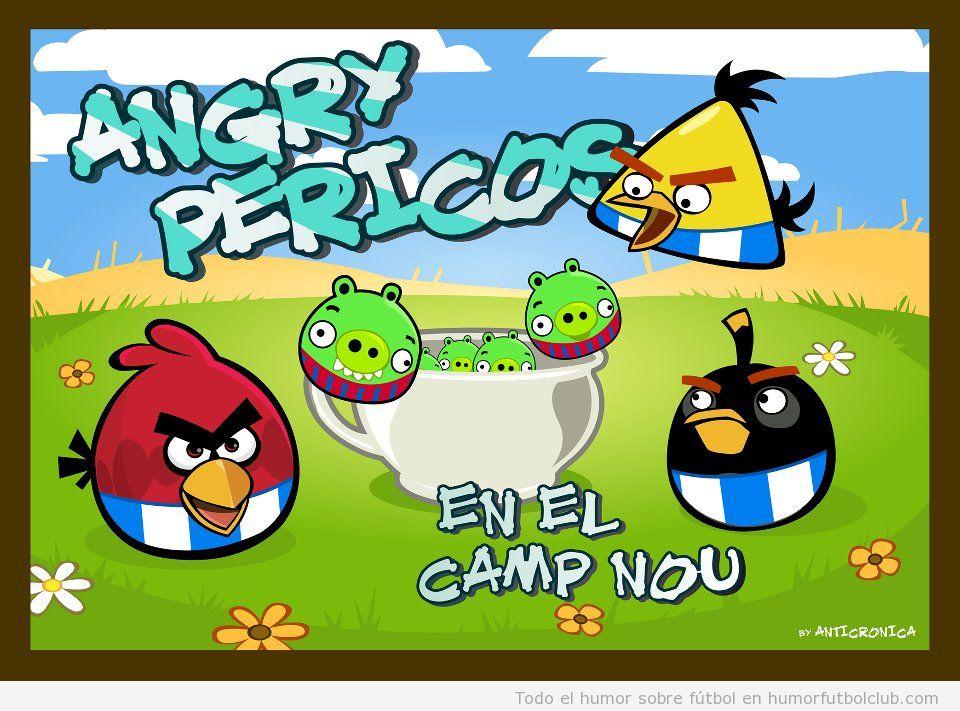 Angry  Birds pericos Espanyol Barça