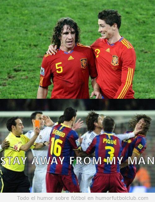 Sergio Ramos da una hostria a Puyol porque tiene celos de Puyol y su amistad con Torres